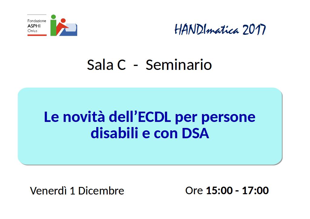 """Seminario """"Le novità dell'ECDL"""""""