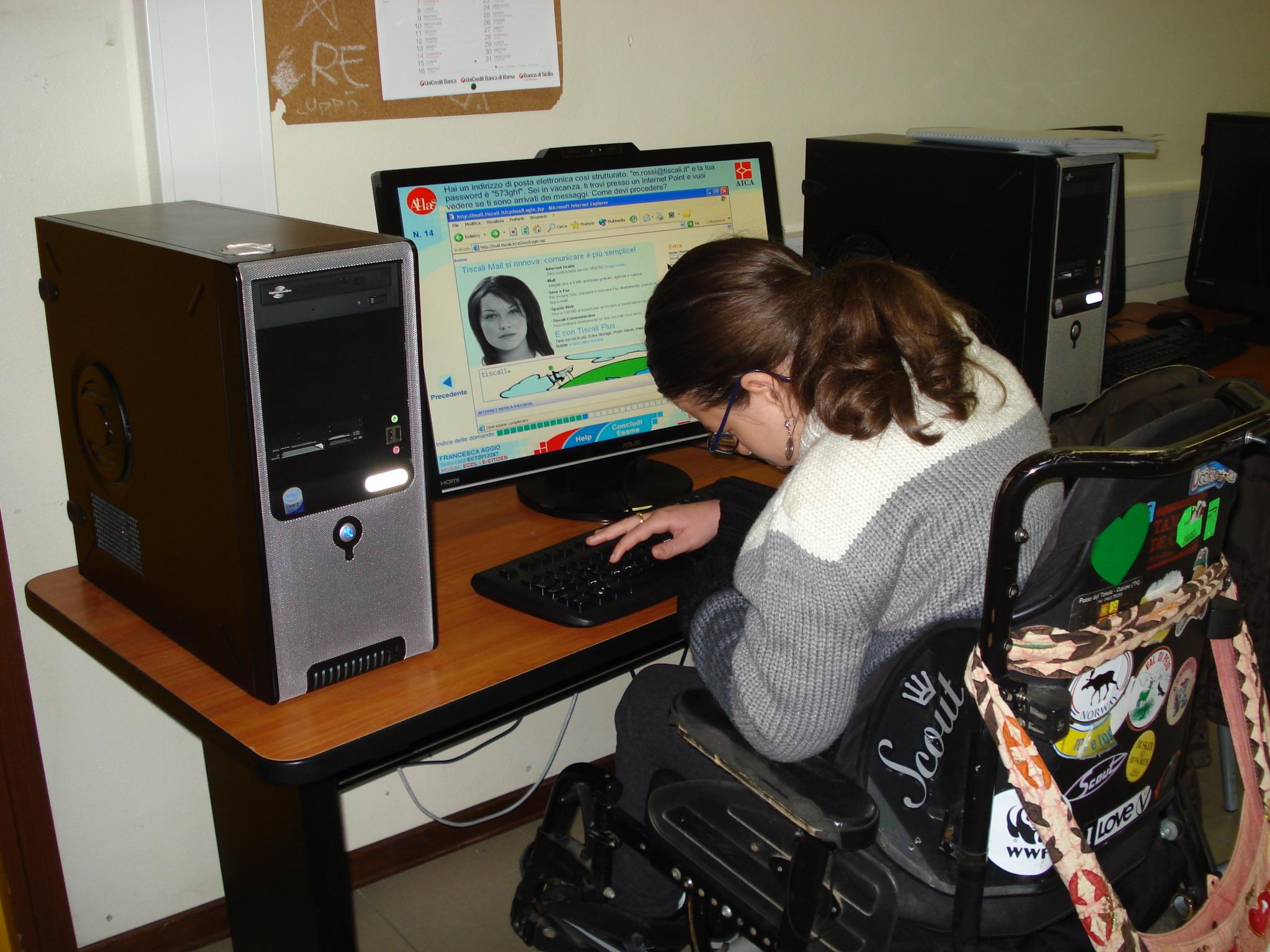 Formazione di studentessa con disabilità